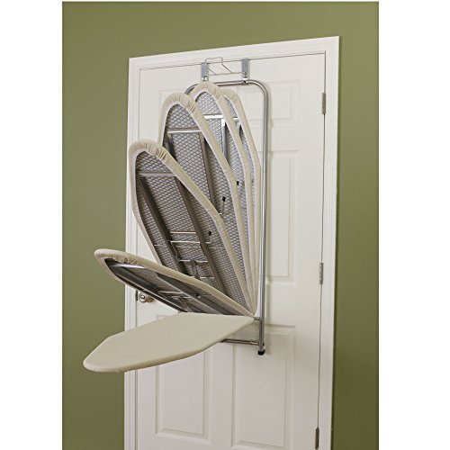 Household Essentials Over The Door Small Ironing Board Folding Action