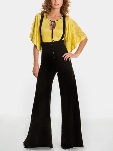 ofelia high waisted pants a slim knit fabric makes these pants ...