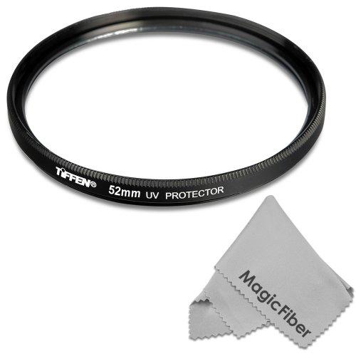 Tiffen 52Mm Uv Protection Filter For Nikon D7100 D5300 D5200 D5100 D5000 D3300 D3200 D3100 D3000 D90 D80 Dslr Cameras + Magicfiber Microfiber Lens Cleaning Cloth