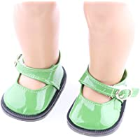 Magideal Green Princess Ankle Belt Shoes For 18inch American Girls Dolls