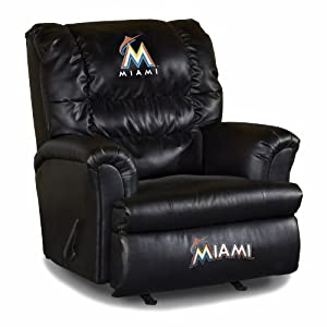 MLB Miami Marlins Big Daddy Leather Recliner by Imperial