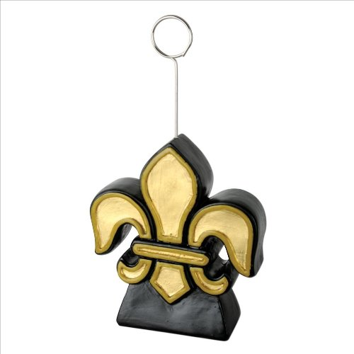 Fleur De Lis Photo/Balloon Holder Party Accessory (1 count)