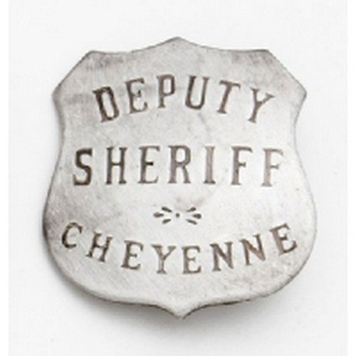Deluxe Western Silver Badge - Deluxe Sheriff Cheyenne - 1