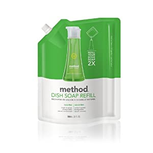 Method Gel Dish Pump Refill 36oz, Cucumber (Pack of 2)
