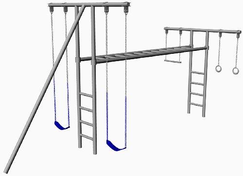 Gym Sets Swings Hl 50 10 Foot Tall Heavy Duty Swing Set