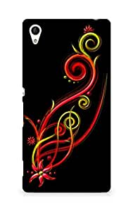 Amez designer printed 3d premium high quality back case cover for Sony Xperia Z4 (Abstract Dark 13)