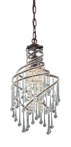 Elk 12002/1 Elise 1-Light Pendant In Rust Elk B001QA31V8