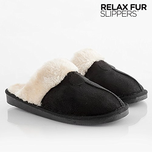 zapatillas-de-casa-relax-fur-slippers-39-negro-marron
