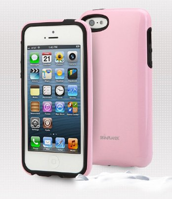 Apple Iphone 5 Case, 5S Uv Hard Coated Case, Including Screen Protector, Built In Card, Slim Fit, Cellphone Cover (Baby Pink)