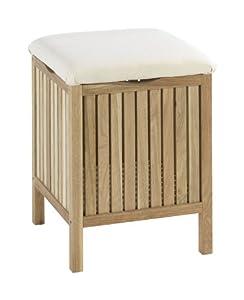 Wenko 18614100 sgabello da bagno e arredo norway legno noce 80 cotone 20 poliestere 39 x - Sgabello legno bagno ...