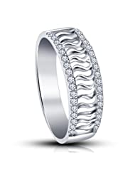Fabulous Gift Ideas For Your Loved One ! Platinum Plated 925 Sterling Silver Swarovski CZ Women's Girl's Band...