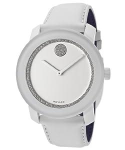 Movado - Reloj de pulsera mujer, piel, color morado