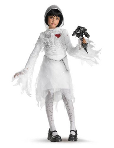 Skeleton Bride Md 7-8 Kids Girls Costume