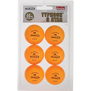 Halex Fusion 6-Pack 3-Star Tennis Balls (Orange)