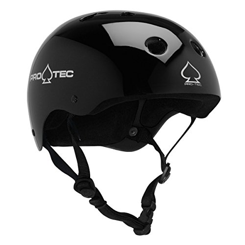 PROTEC Original Classic Skate Helmet, Gloss Black, Medium