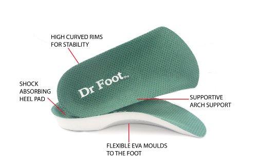 Dr Foot Pro Insoles Orthotics - Medium