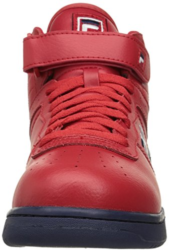 Fila Men's F-13V LEA/SYN Fashion Sneaker, Fila Red/Fila Navy/White, 10 M US