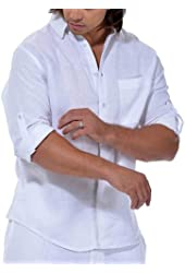 Tropical Florida sun pure linen shirt.
