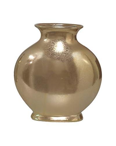 Three Hands Ceramic Vase, Gold