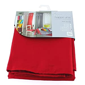Nappe rectangulaire unie en 250 cm essentiel rouge amazon - Nappe de cuisine rectangulaire ...