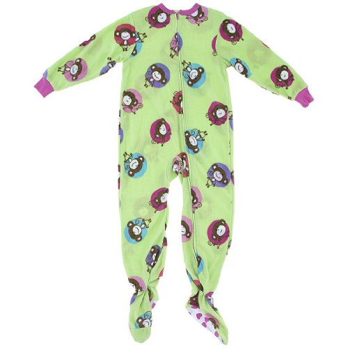 Your little one will be thrilled to get ready for bed with the help of this pajama set that includes pants with an elastic waist and a long-sleeve top with a buttoned placket, both featuring a playful monkey print.
