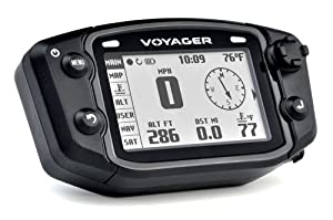 Trail Tech 912-402 Voyager Stealth Black Moto-GPS Computer by Trail Tech