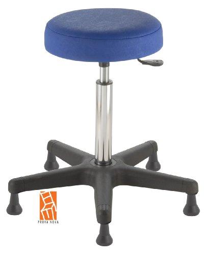 Arbeitshocker-Arzthocker-Drehhocker-Standhocker-Modell-comfort-Hubbereich-ca-54-73-cm-rutschfeste-Bodengleiter-Sitzfarbe-atoll-blau