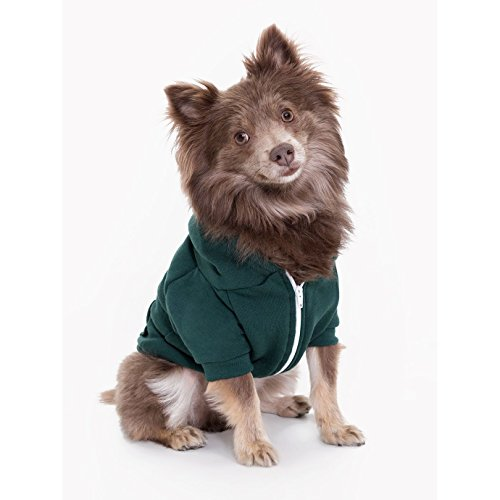 american-apparel-flex-fleece-hunde-kapuzen-jacke-medium-wald