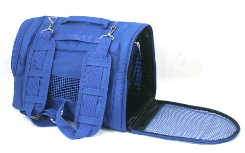Prefer Pets Backpack Pet Carrier, Blue
