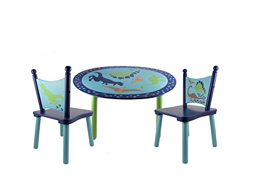 Dinosaurs Painted Wood Kids Table And Chair Set