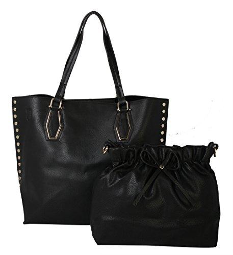 diophy-womens-convenince-bag-in-bag-studded-shoulder-bag-handbag-my-2523-black