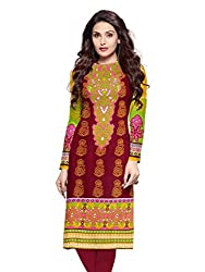 Fashion Galleria Women's Printed Unstitched Regular Wear Kurti Material (SKY_501_Red)