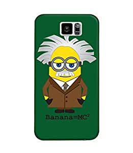 The Fappy Store Banana MC² green hard plastic Back case Cover Samsung Galaxy S6