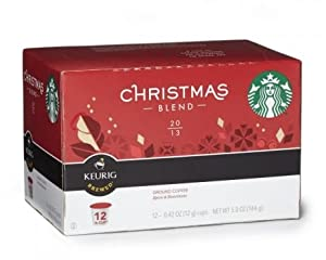 Starbucks Christmas Blend K-Cups (12 Servings/pods) for Keurig Coffee Machines