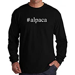#Alpaca Hashtag Long Sleeve T-Shirt