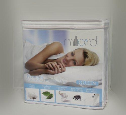 """Milliard Premium Hypoallergenic Bed Bug Proof Box Spring Encasement, Queen (60""""X80""""X9"""")"""