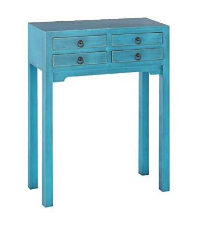 Oosterse blauwe console