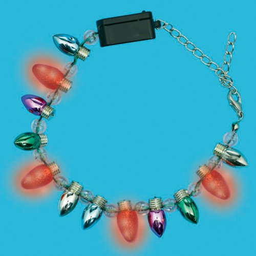Christmas Light Bulb Light-Up Bracelet Party Accessory