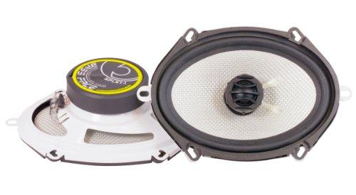 Bass Face SPL57.1 - Set di 2 altoparlanti per auto da 500 W, componenti coassiali da 5x7'