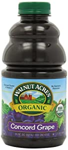 Walnut Acres Organic Juice, Concord Grape, 32-Ounce Bottles (Pack of 3)