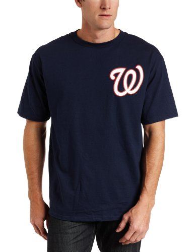 MLB Washington Nationals Wordmark Basic T-Shirt Navy, X-Large at Amazon.com