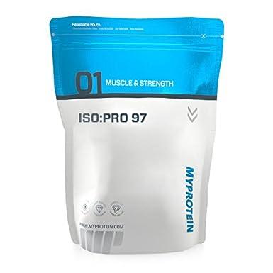 My Protein Iso:Pro 97 1000 g Vanilla - Premium Wheyprotein und Aminosäuren 0 % Kohlenhydraten