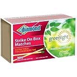 "Diamond Strike On Box ""Greenlight"" Matches 300 Ct"