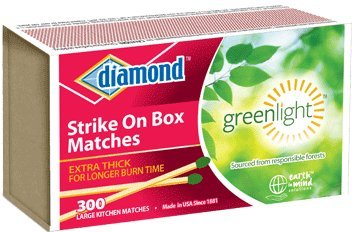 Review Diamond Strike On Box Greenlight Matches 300 Ct