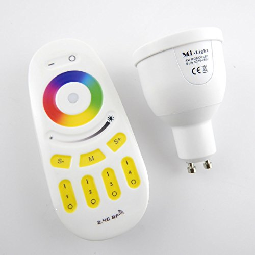 E-Age 4W Gu10 Led Color Changing Remote Control Ambience Rgbw Bulb