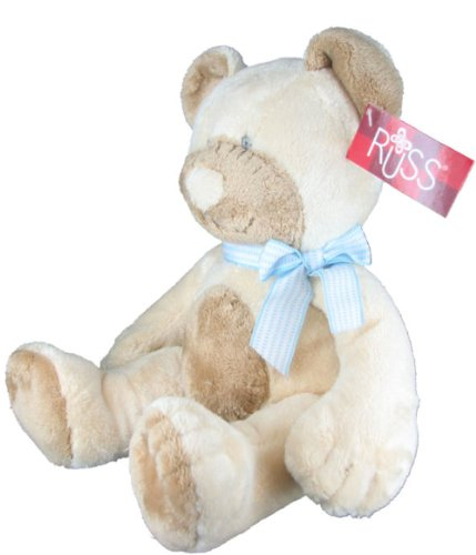 Plush Stuffed Teddy Bear w/ Rattle Sound in Blue