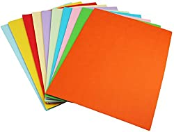 250 Sheets Sinar Premium A4 Multi-Colour Paper Photocopy, Art & Craft - 10 Colour, 80GSM