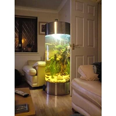 Column Aquarium Fish Tank - Stainless Steel