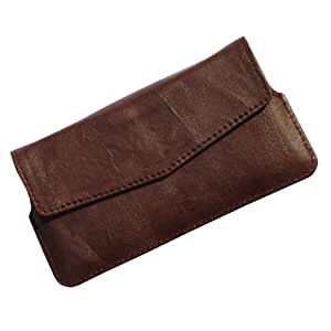 i-KitPit Quality PU Leather Pouch Case With Magnet Closure For Huawei Ascend P1 (BROWN)