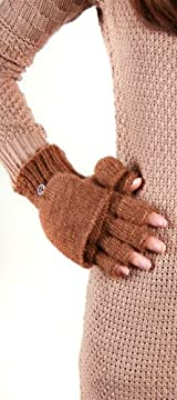 MONTREAL CAPPED FINGERLESS GLOVE LEATHER